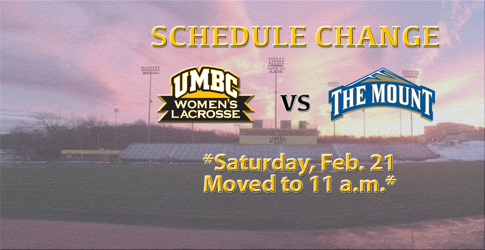 Women's Lacrosse Returns to Action Saturday Against Mount St. Mary's; Game Time Moved Up
