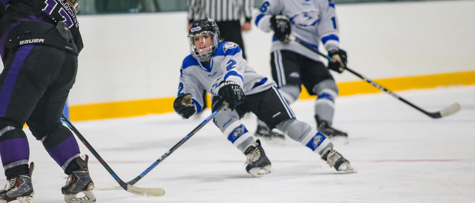 Michaela Martin and the women's ice hockey team lost to Salem State on Saturday