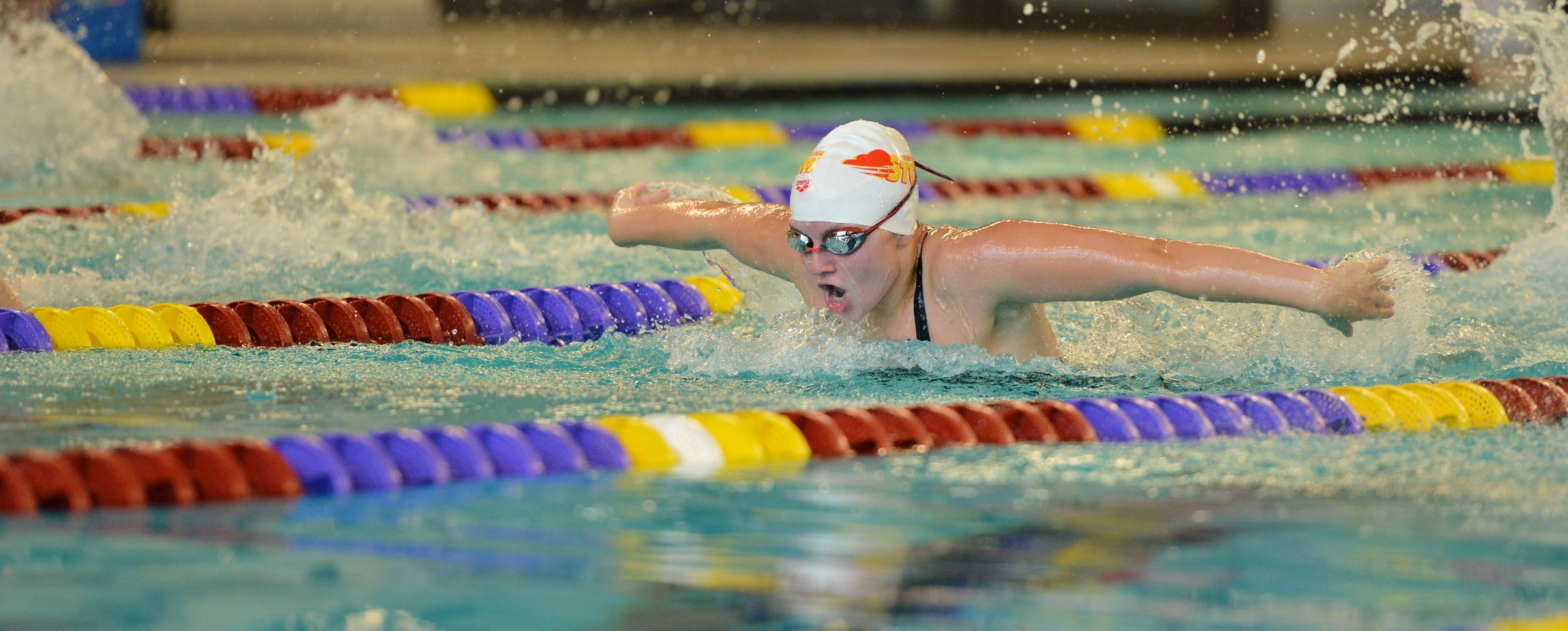 Women's swimming breaks 12-year-old relay record at Liberal Arts day two