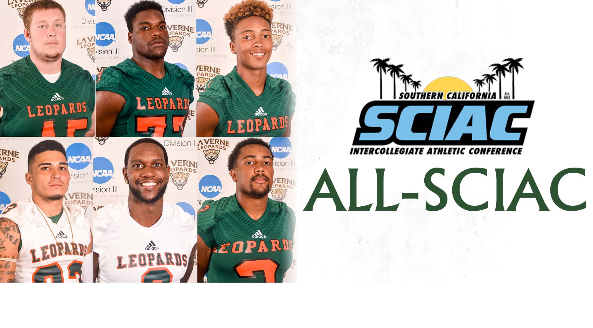 Football places six on All-SCIAC list