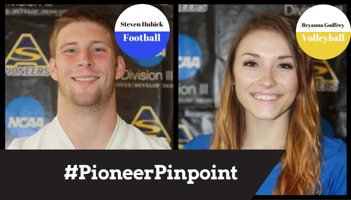 Godfrey and Hubick Named #PioneerPinpoint Athletes of the Week