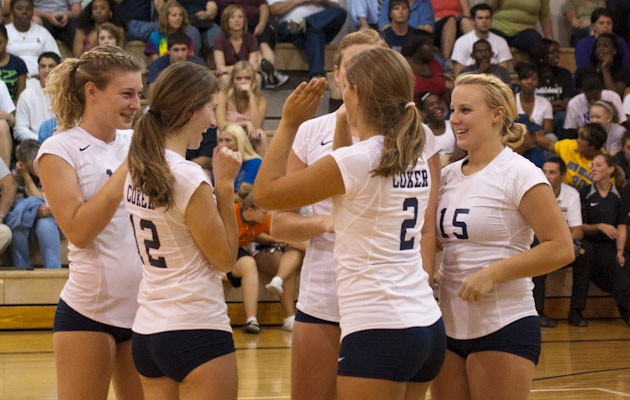 Coker Volleyball Opens Season with a Pair of Wins