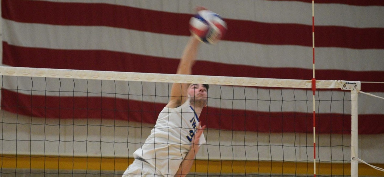 Men's Volleyball Drop 3-0 Decision at Rivier