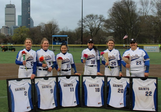 SAINTS COMPLETE SENIOR DAY SWEEP OVER MONKS; 2-0 & 9-3