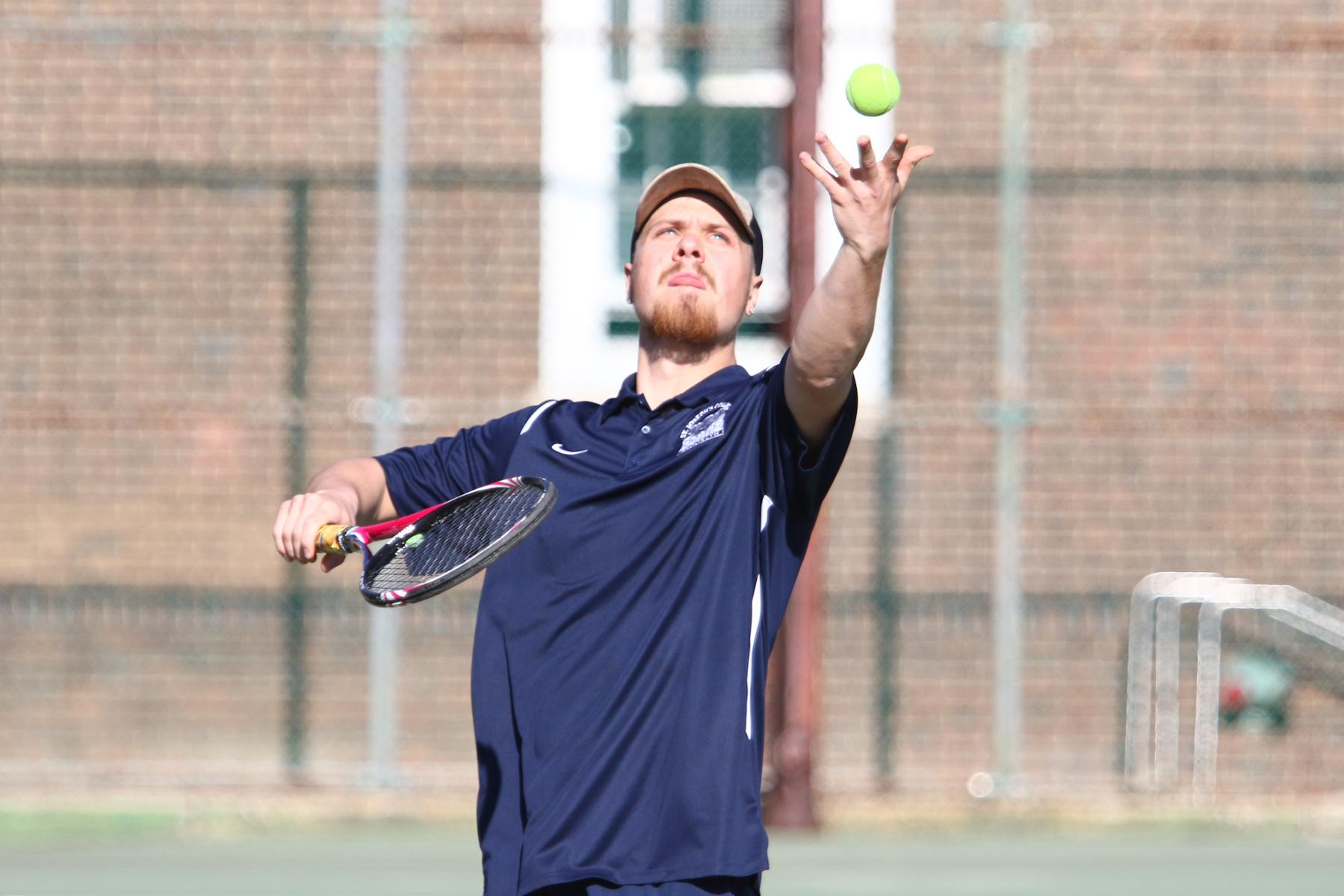 Parr Moves into Second in Singles Wins as Men's Tennis Battles Sarah Lawrence