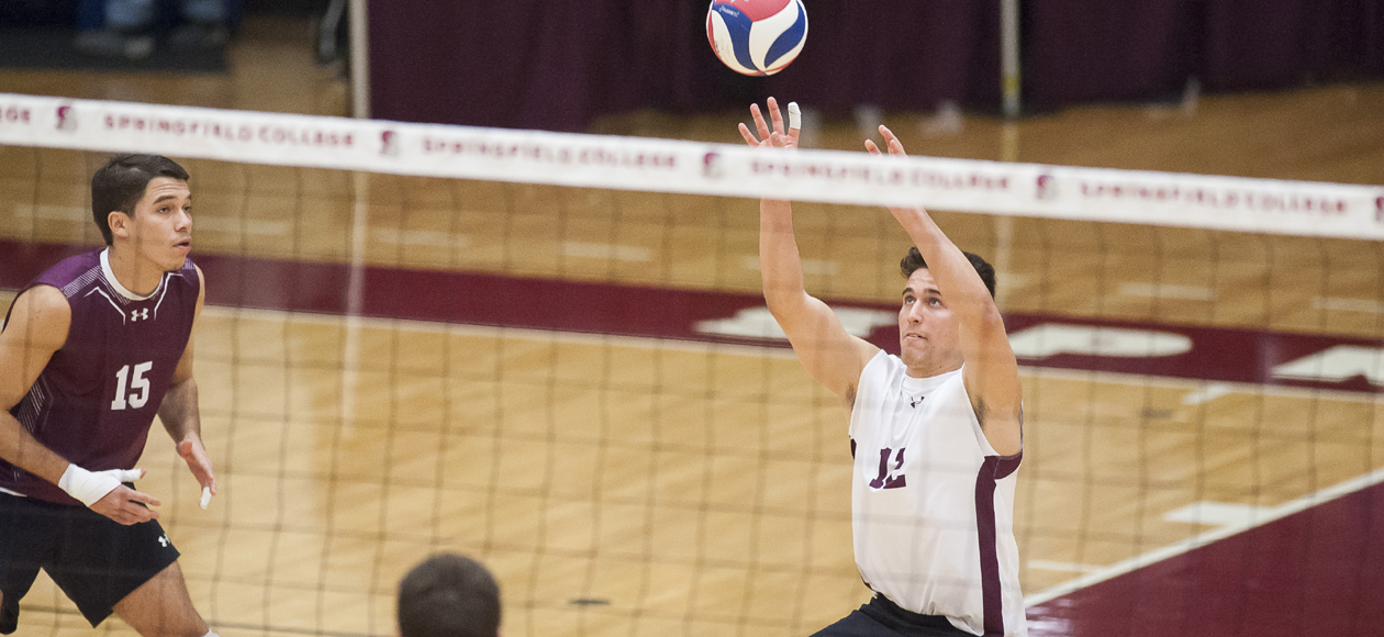 Tough Serving Leads No. 1 Men's Volleyball Past No. 10 NYU In Straight Sets