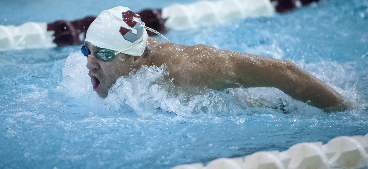 Men's Swimming and Diving Splits With Union and Hartwick