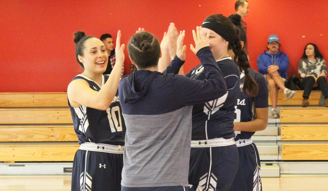 Lady Falcons Hit The Century Mark For The First Time This Season With A Win Over Vermont Tech