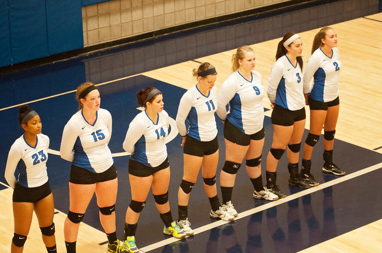 Volleyball Closes Road Swing at Wentworth Tuesday