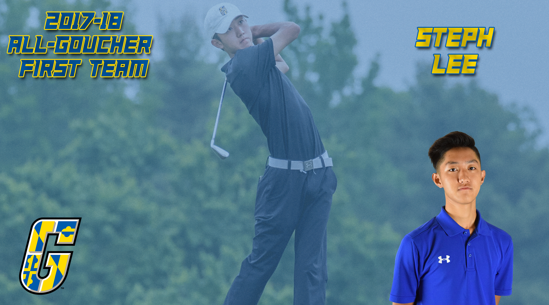 All-Goucher First Team Selection: Men's Golf's Steph Lee
