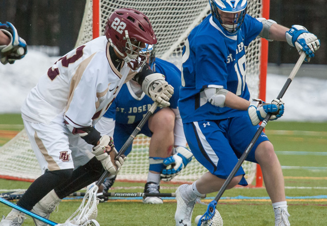 Men's Lacrosse: Ten Norwich Players Score in 18-5 Win against Daniel Webster