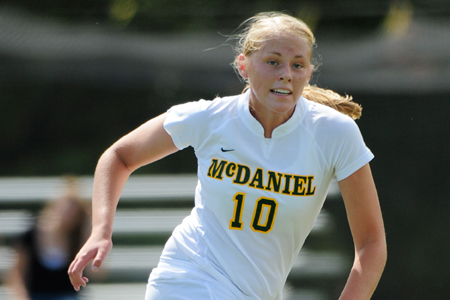 McDaniel works OT for first win