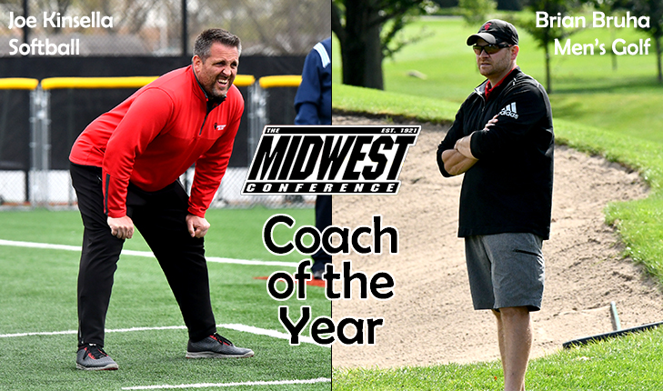 Kinsella and Bruha Earn Coach of the Year Honors