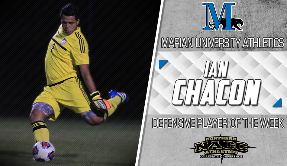Ian Chacon defensive player of the week graphic.