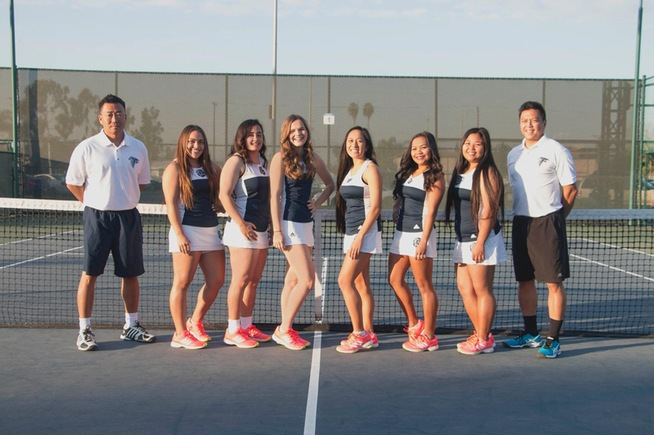 The Cerritos women's tennis team sweeps conference titles