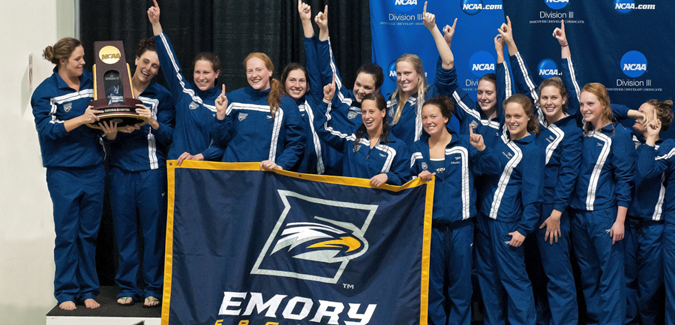 BACK TO BACK: Emory Women's Swimming & Diving Repeats as NCAA Division III Champion