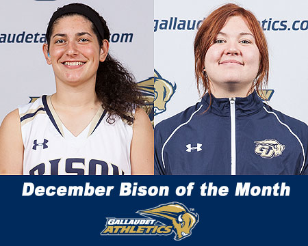 Elena Ciccarelli and Alexandra Polivanchuk named December Bison of the Month