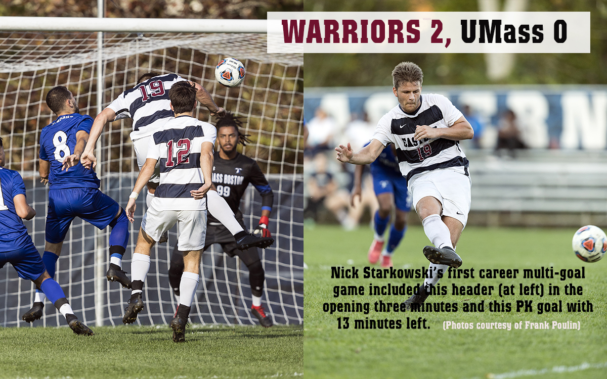 'Stark' Reality: Men's Soccer Has UMass Boston's Number at Nevers Field