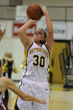 Erin Brown led the Retrievers with 14 points and nine rebounds against Hartford.