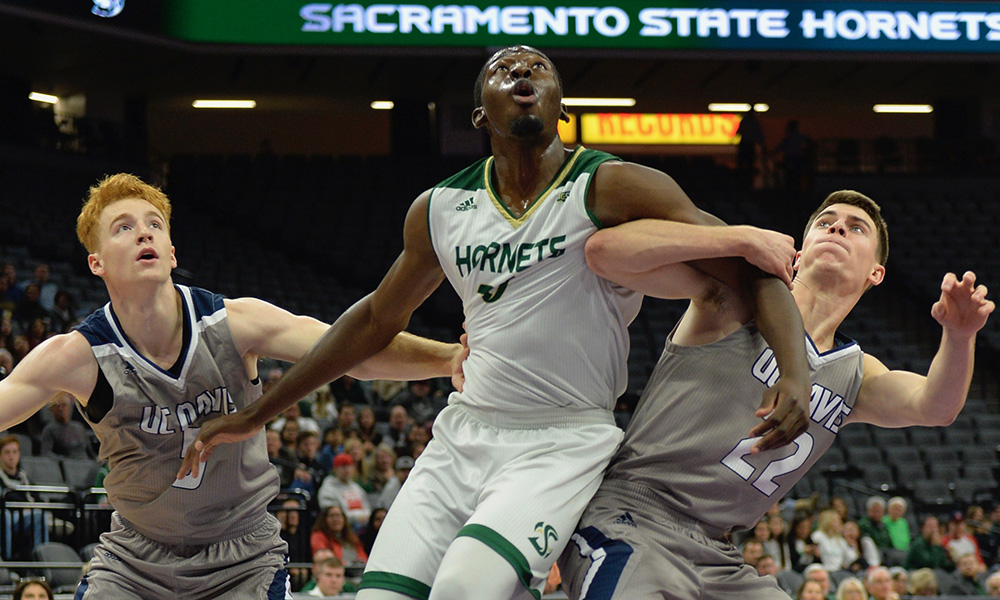 MEN'S BASKETBALL CLOSES GAME ON A 9-0 RUN, BEATS UC DAVIS, 58-55, AT THE GOLDEN 1 CENTER