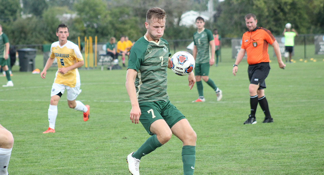 Leo Hasenstab has been named G-MAC Men's Soccer Player of the Week.