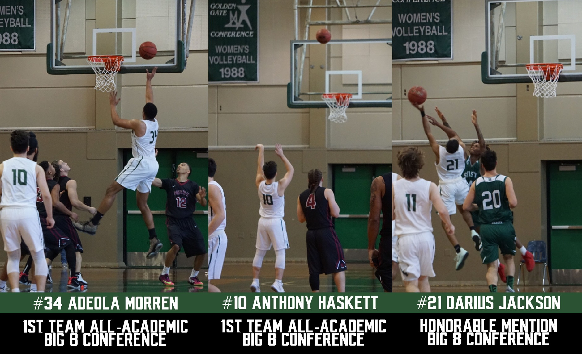 3 Men's Basketball players named to Big 8 Conference Teams