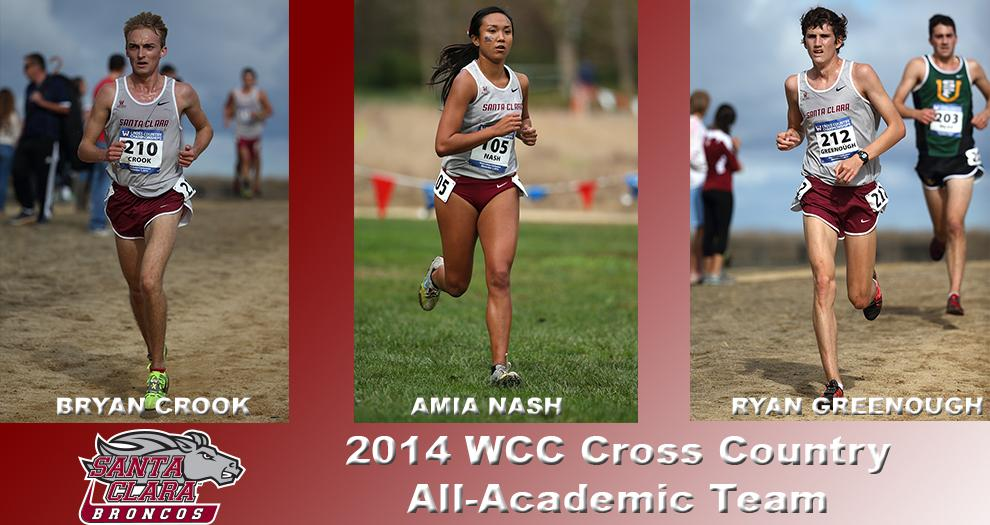 Cross Country's Nash, Crook, Greenough Named to WCC All-Academic Team; Nine Broncos Recognized in Conference Honors