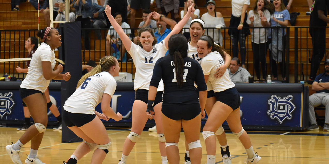 Dallas edges Centenary in Five-Set Thriller to Open 2018 SCAC Tourney