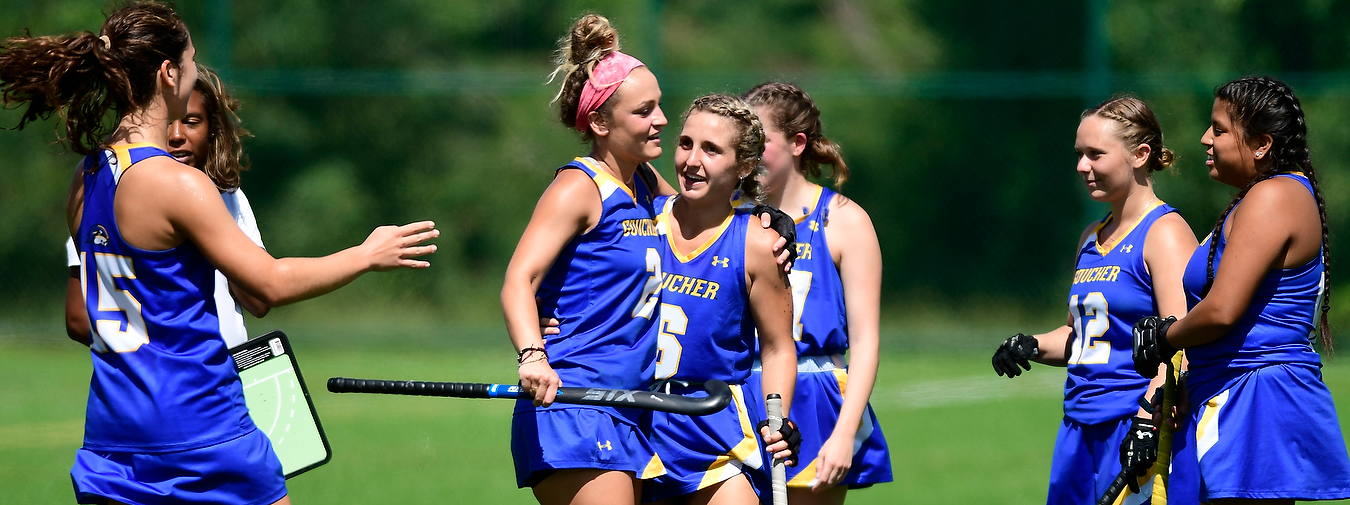 Hat Tricks By Johnson And Oakes Power Goucher Field Hockey Past Southern Virginia