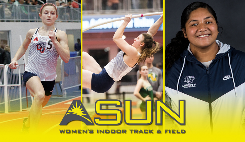 Liberty Trio Sweep #ASUNTF Women's Honors Following Home Meet