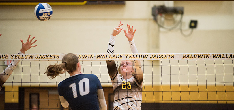 Freshman utility player Morgan Mellinger's 13 kills helped the Yellow Jackets defeat #17 Ohio Northern
