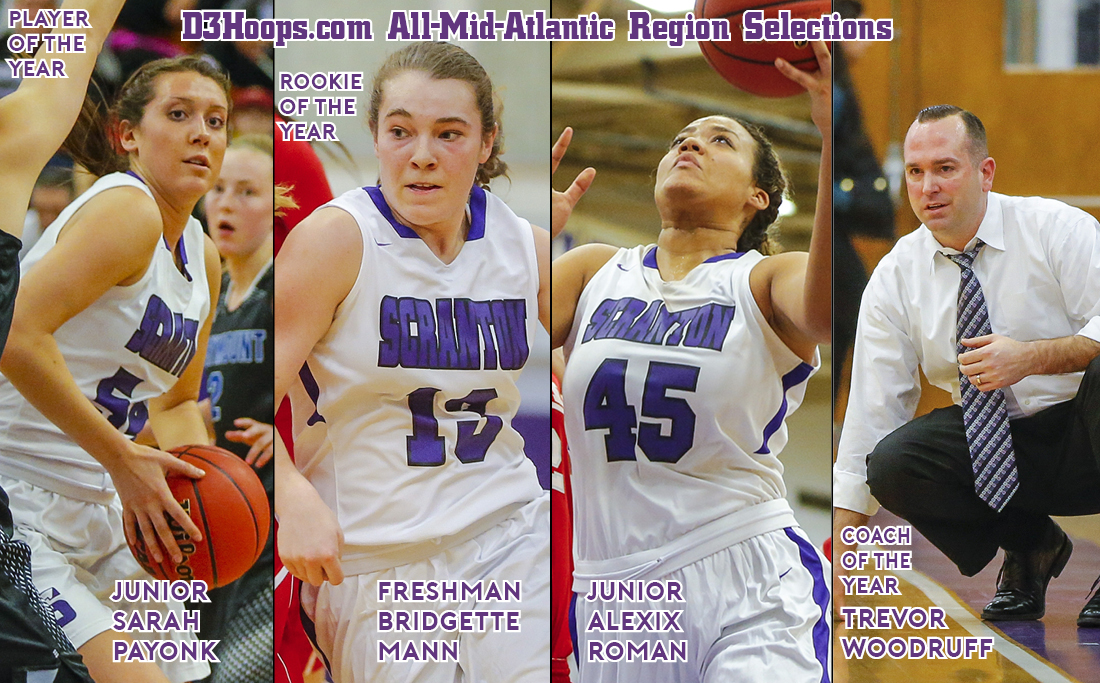 Payonk Slotted as Player of the Year; Mann, Roman, Woodruff Collect Honors on D3Hoops.com All-Mid-Atlantic Region Team