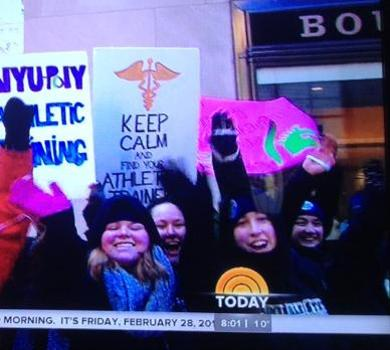 Rams Visit Today Show for National Athletic Training Month
