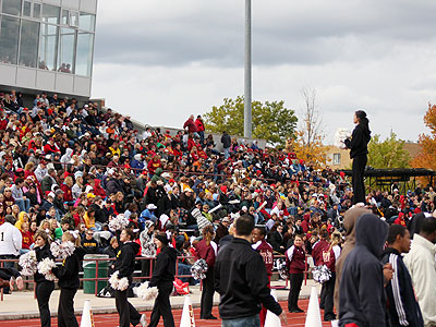 A good crowd was on hand for the homecoming game (Pioneer Photo)