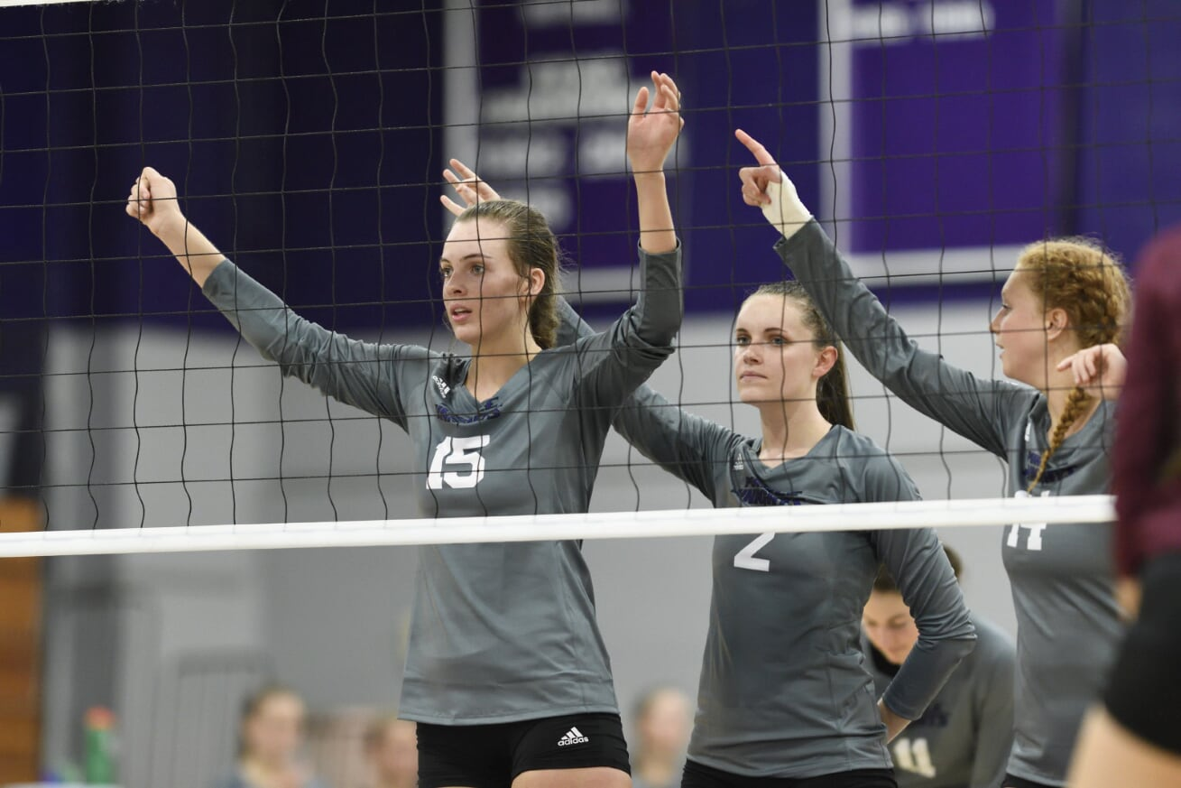 Purple Knights Topped By AIC In Non-Conference Volleyball Action