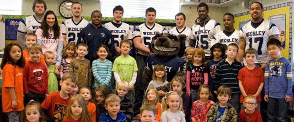 Wesley Football Vists The Little School