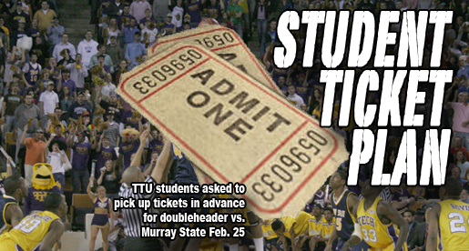 Athletics announces ticket plan for TTU students for Feb. 25 games