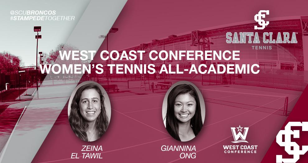 Two Women's Tennis Players Garner Academic All-WCC Honors