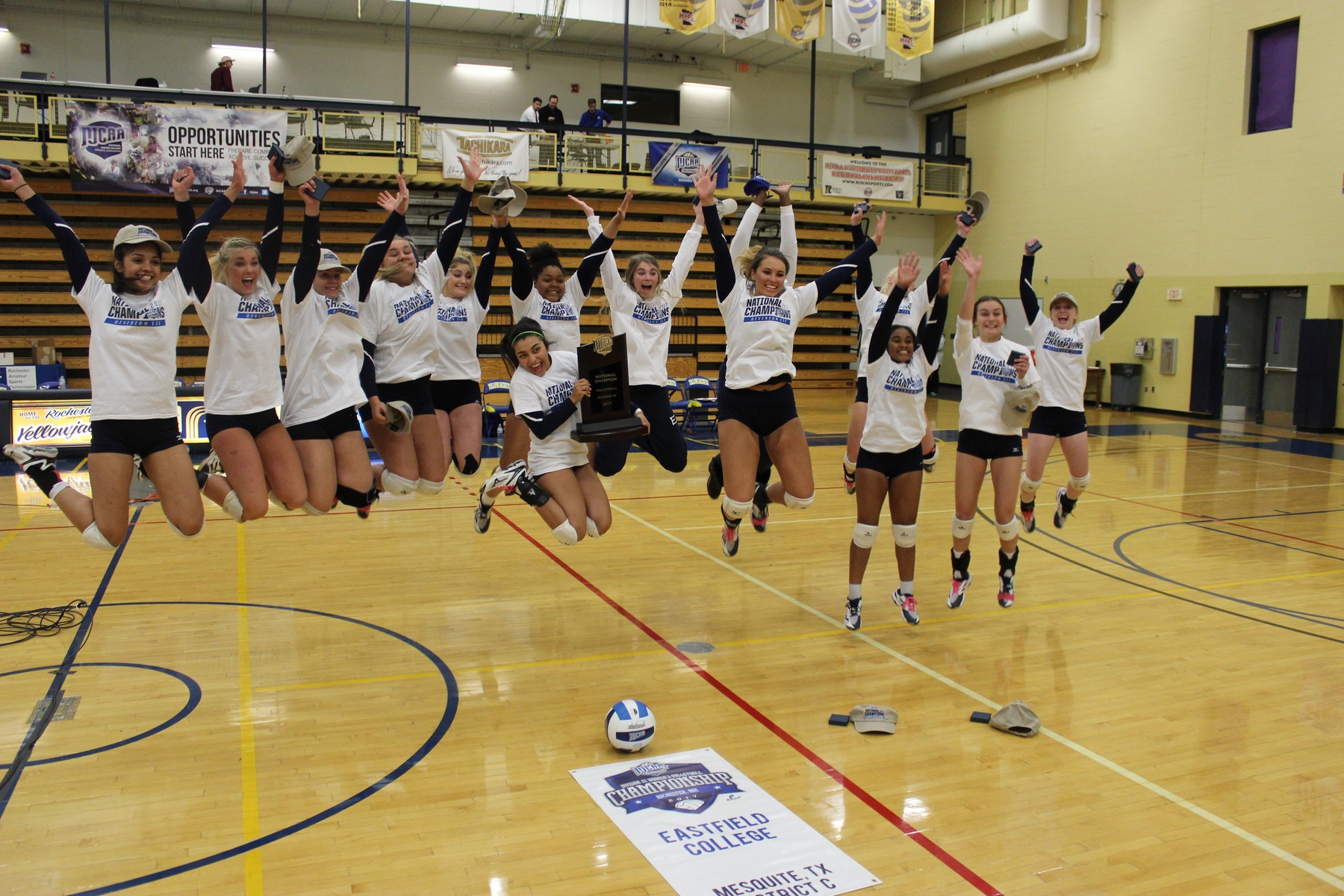 Eastfield claims first-ever DIII volleyball title