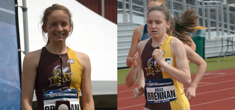 Junior three-time All-American distance runner Kelly Brennan finished as the national runner-up in the 800-meter run