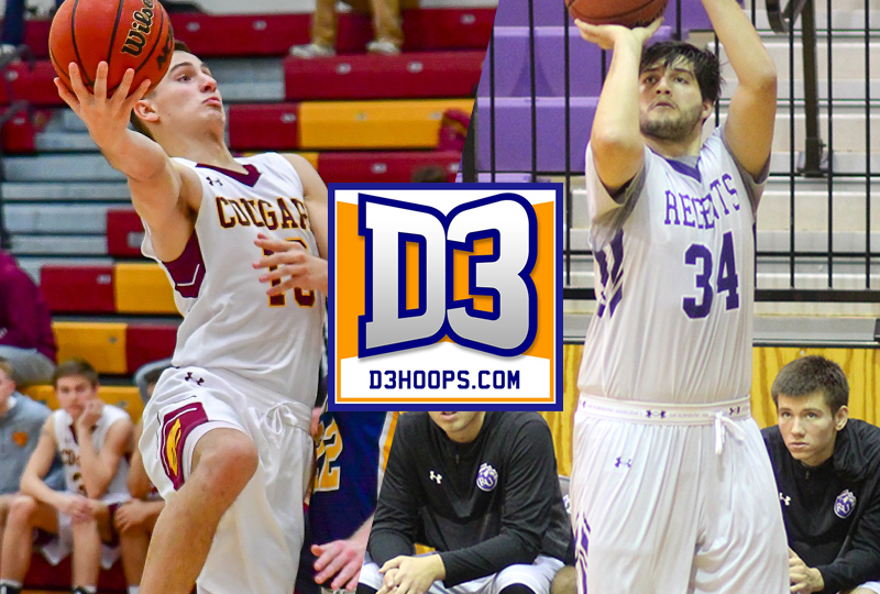 Mitch Pelisseri (CUC) and Tony Diemer (Rockford) have been named to the D3hoops.com Team of the Week for games played from Dec. 31, 2018 to Jan. 6, 2019.