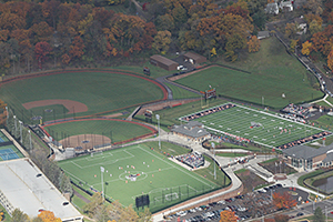 Aerial View of Kalamazoo College Athletic Fields