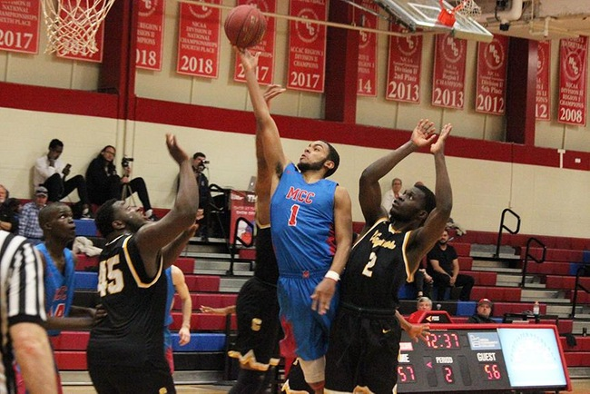 Mesa's Rajhan Billingsley powers to the hoop for two of his 28 points on the afternoon.