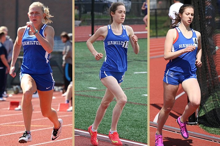 From left to right: Cat Berry '19, Grace Heller '19 and Mary Lundin '19 (photos by Brett Hull).