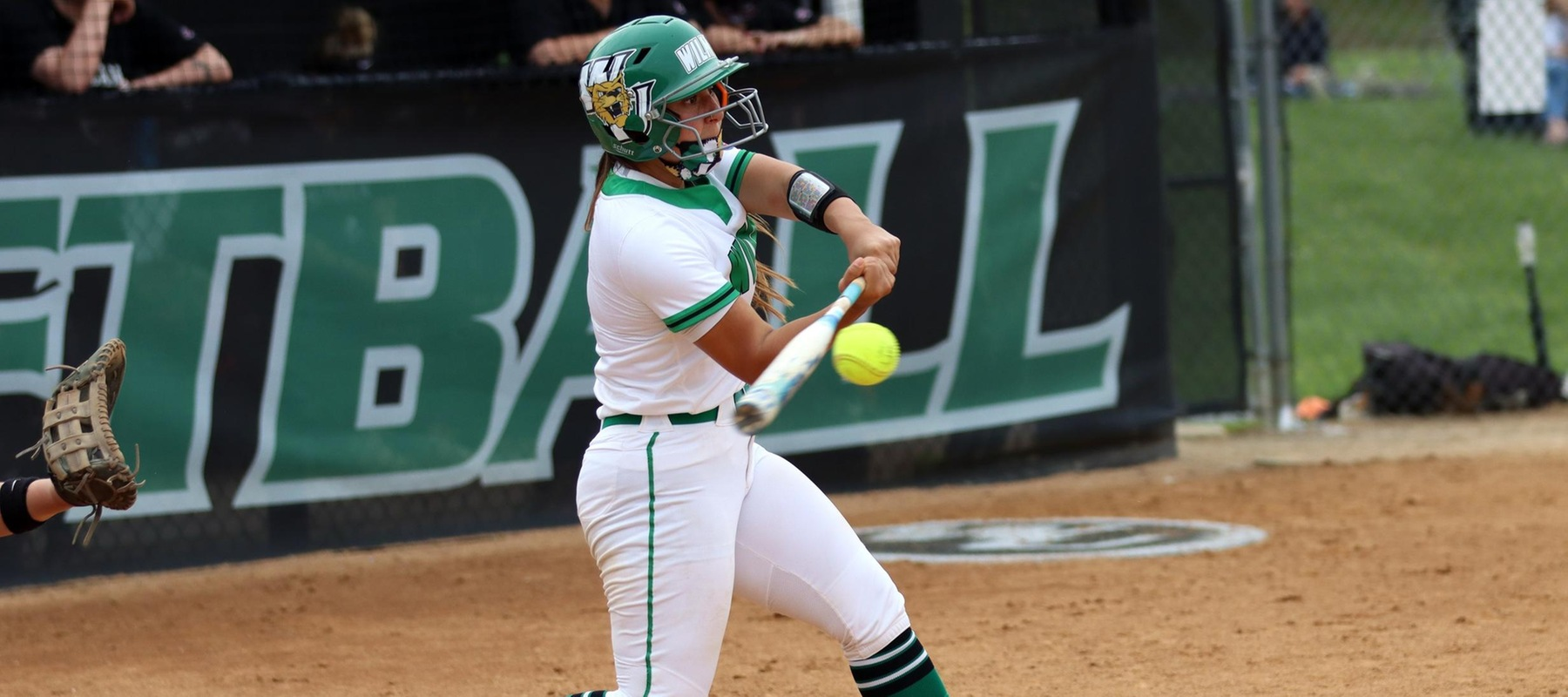 File photo of Annie Davila who hit two homers and had five RBI in game one at Concordia. Copyright 2021; Wilmington University. All rights reserved. Photo by Erin Harvey.