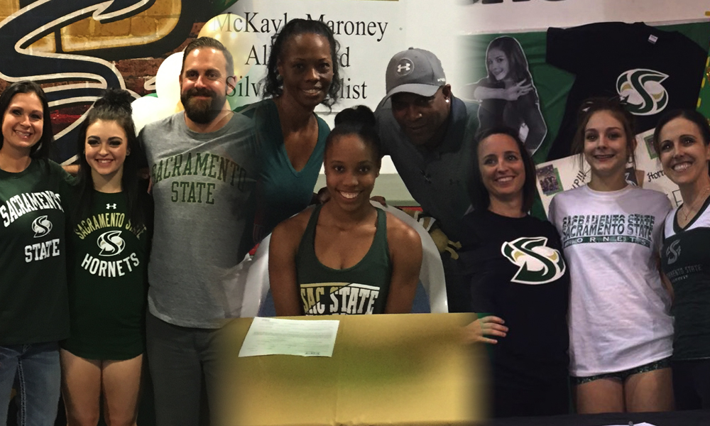 GYMNASTICS INKS THREE TO NATIONAL LETTERS OF INTENT
