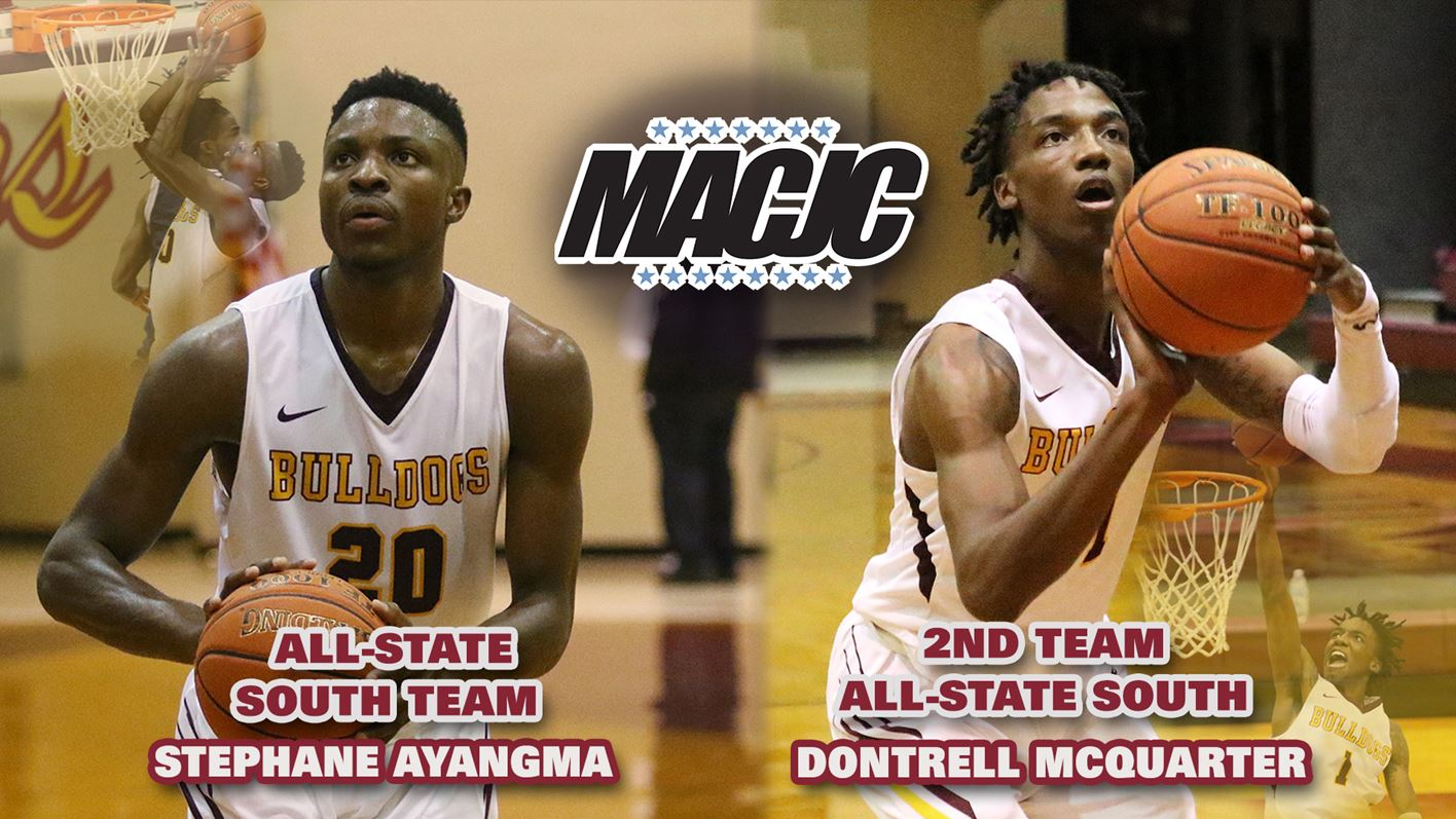Hinds Men's Basketball:  Two Bulldogs Honored by MACJC