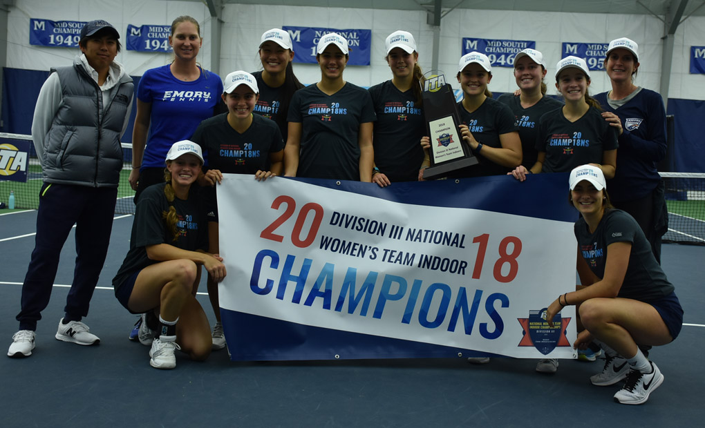 Emory Women's Tennis Captures Second Consecutive ITA Indoor Championship