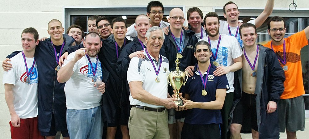 Gallaudet claims its third NEAC men's swimming and diving championship