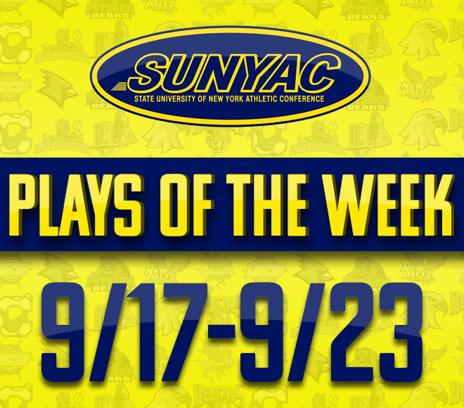 SUNYAC Fall Plays of the Week - Sept. 17-23